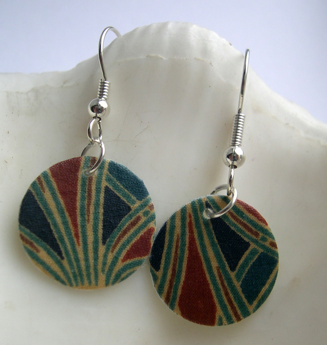 Hardened Ditsy Liberty Print Disc Earrings