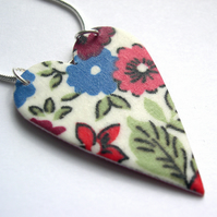 Hardened Liberty of London Fabric Heart Necklace