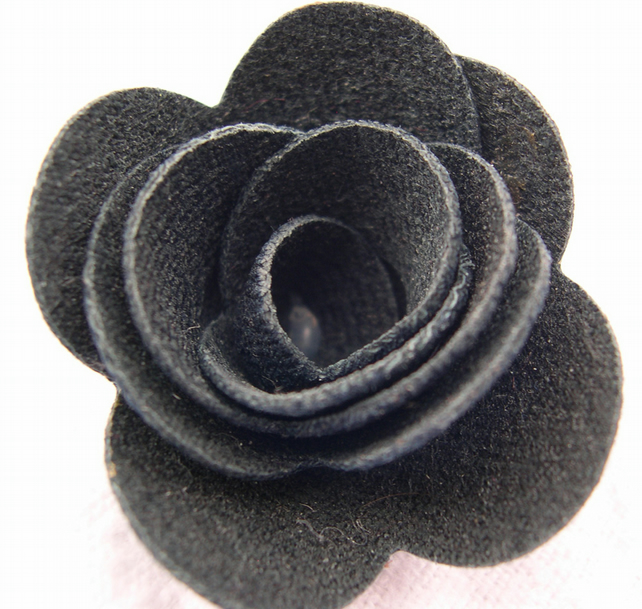 Hardened Medium Denim Rose Brooch