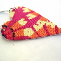 Hardened Hot Pink Abstract Print Necklace