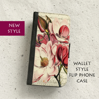 Phone flip case - Samsung Galaxy & iPhone models - Magnolia