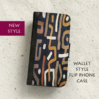 Phone flip case - Samsung Galaxy & iPhone models - Abstract African