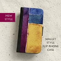 Phone flip case - Samsung Galaxy & iPhone models - Abstract No19