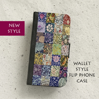 Phone flip case - Samsung Galaxy & iPhone models - William Morris patchwork