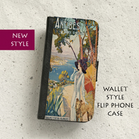 Phone flip case - Samsung Galaxy & iPhone models - Antibes Poster