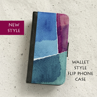 Phone flip case - Samsung Galaxy & iPhone models - Abstract No21