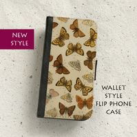 Phone flip case - Samsung Galaxy & iPhone models - Butterflies