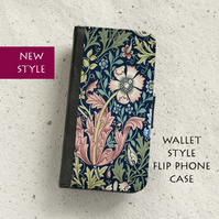 Phone flip case - Samsung Galaxy & iPhone models - William Morris - Compton