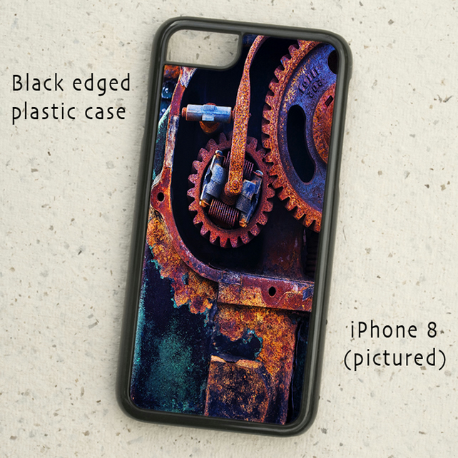iPhone or Samsung Galaxy case - Rusty Cogs - Abstract Detail