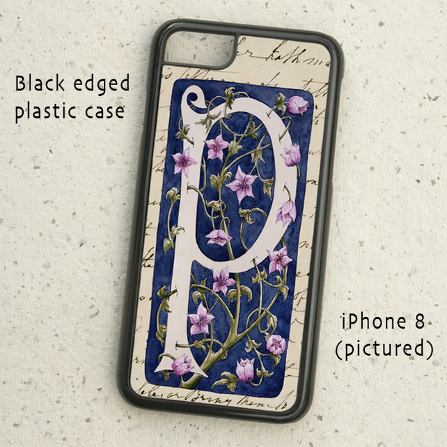 iPhone  or Samsung Galaxy case - Letter P after William Morris