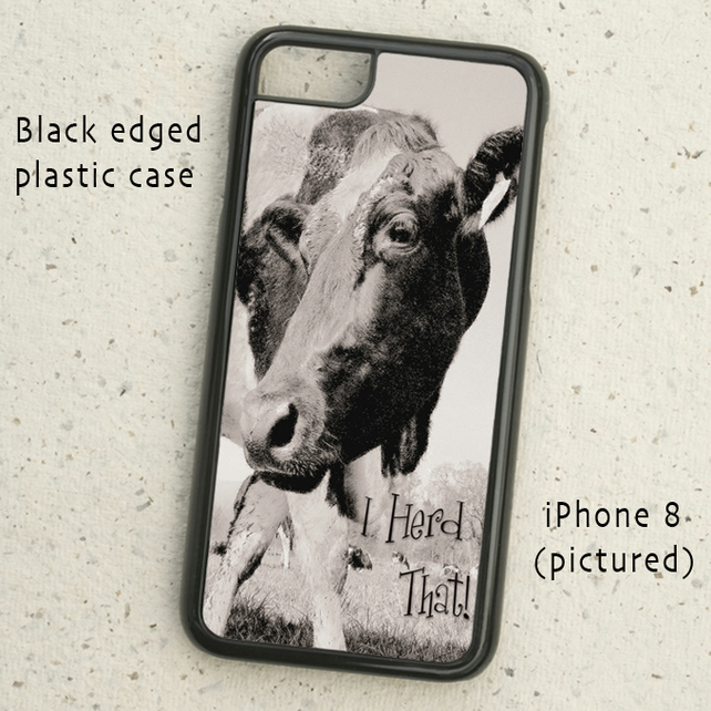 iPhone or Samsung Galaxy case - I Herd That! - Cow photograph