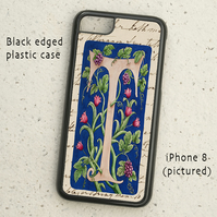 iPhone  or Samsung Galaxy case - Letter T after William Morris