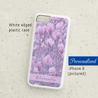 iPhone or Samsung Galaxy case -In The Pink - Magnolia - Personalised phone cover