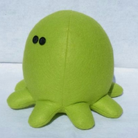 Green plush octomonster