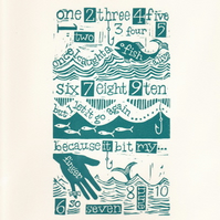 Fish Alive Nursery Rhyme Print