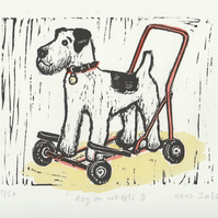 Dog on wheels II