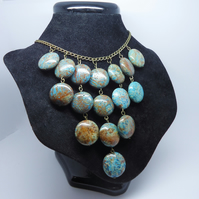 'Waterfall' Green and Brown Jasper Necklace