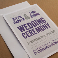 Wedding Invitation Sample - The Modern Type