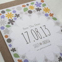 Save The Date Card Sample - 'Rustic Florals' Range