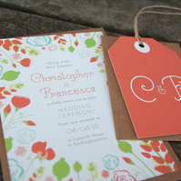 Wedding Invitation Sample - English Country Garden