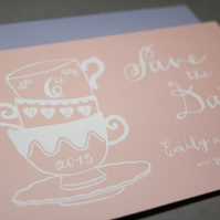 Save The Date - Vintage Tea Cups
