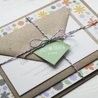 Wedding Invitation Sample - Rustic Florals