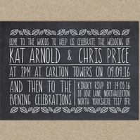 Wedding Invitation Sample - To The Woods
