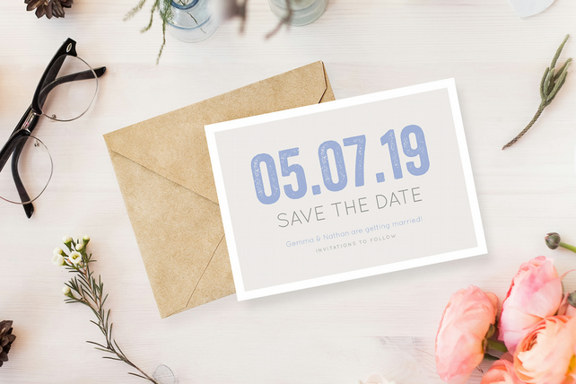 Save The Date Card - The Modern Type