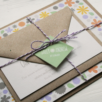 Wedding Invitation Sample - 'Rustic Florals' Range