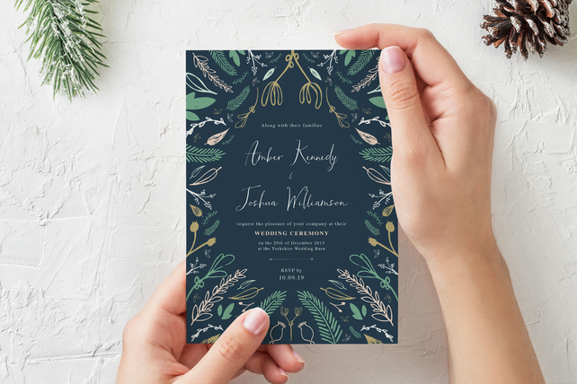 Wedding Invite - 'Exquisite Winterland' Range