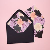 10 Lined Envelope G5 - 'Amethyst Bouquet' Range