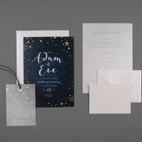 Wedding Invitation Sample - Starry Night