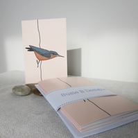 Nuthatch - set of 5 cards