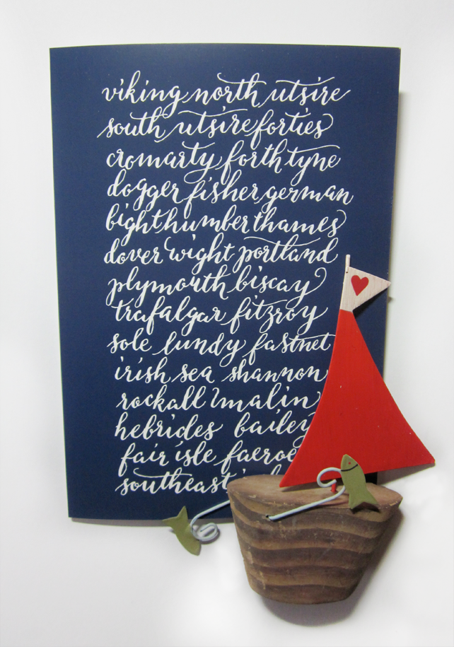 The Shipping Forecast - set of 3 cards