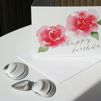 Summer Roses birthday card