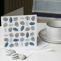 Pebbles pattern square card