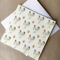 Chicken & Egg square card