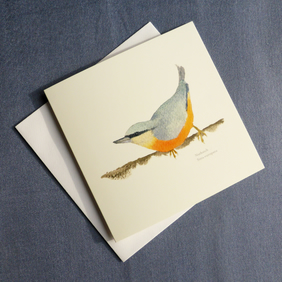 Nuthatch square card