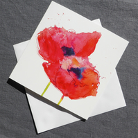 Wild Poppies square card