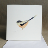 Long-tailed tit square card