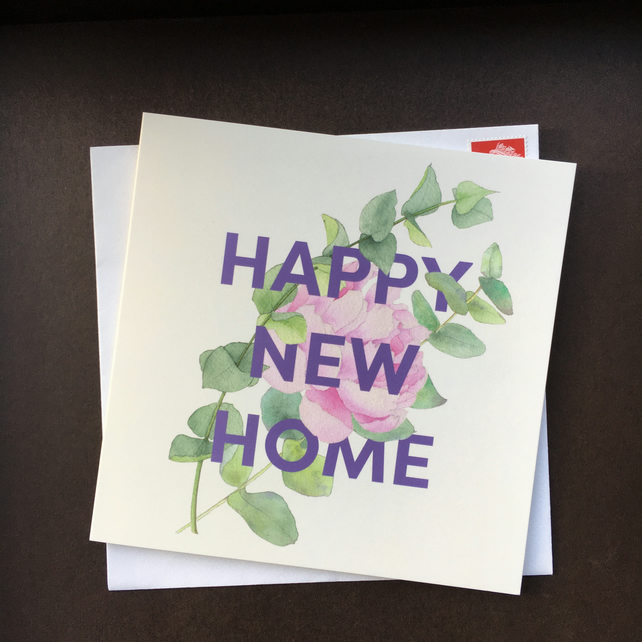 Happy New Home single square card