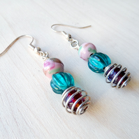 Beaded drop dangle earrings