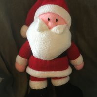 Knitted Father Christmas with toy sack