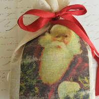 Father Christmas Lavender Muslin Bag