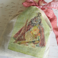 Vintage French Style Lavender Muslin Sachet