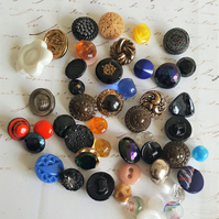 Vintage Buttons Small Assorted Colours and Shapes Selection