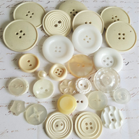 Vintage Buttons Cream and White Selection