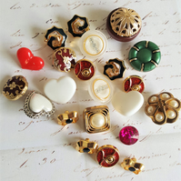 Vintage Buttons 1980's Ornate Selection