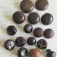 Vintage Leather Football Button Selection