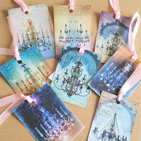 Gift Journal Tags Vintage Style Chandelier
